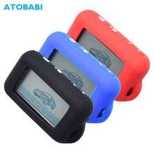 Silicone Car Key Case For Starline E63 E90 E91 E60 E61 E95 E65 E66 2-Way Car Alarm LCD Remote Control Keychain Transmitter Cover