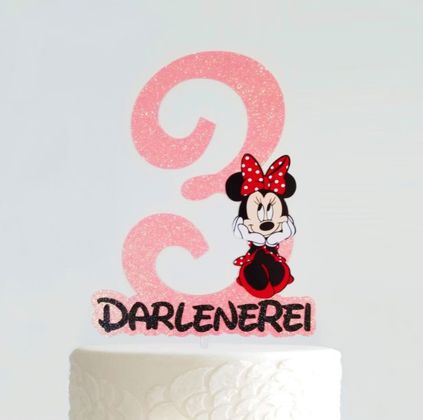 Astounding Personalize Minnie Mouse In Red Polka Dots Age Inspired Cake Funny Birthday Cards Online Elaedamsfinfo