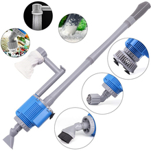 6in1 Electric Aquarium Cleaner Filter Pump Lily Pipe Fish Tank Tools Cleaning Water Changer Gravel Accessories