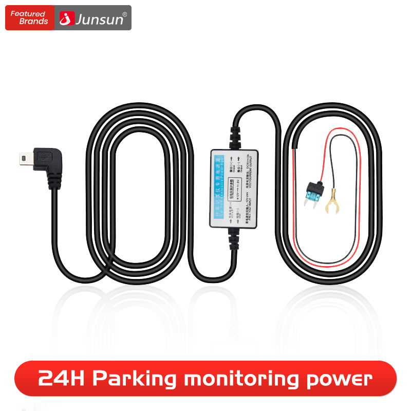 Buck Line Power for 24h Parking Monitoring Car DVR Dashcam Recorder Charge Cable