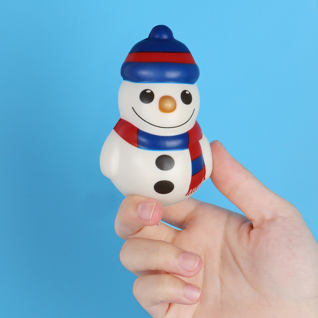 Stress Relief Toy Squishies 1PCS Christmas Snowman Toy Slow Rising Scented Stress Relief Kawaii Adorable Toys 2019 W1016