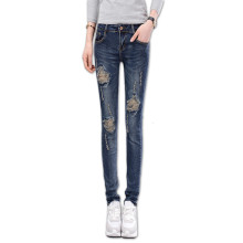 Slim Skinny Jeans Woman High Waist Ripped Hole Pencil Jeans For Women Spring Autumn Denim Pants Stretch Trousers Vaqueros Mujer 2017 women s slim hole irregular stretch jeans ladies ripped washed denim trousers skinny pencil pants