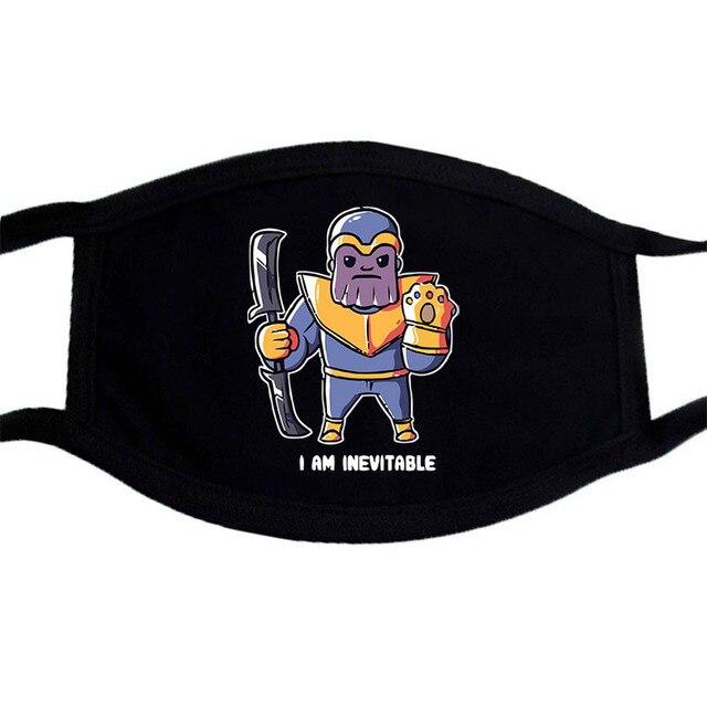 Iron Man Groot Superhero Mask Anime Cartoon Cute  Dust Masks Black Casual Keep Warm Mask Kpop Mouth Muffle Face Masks 1