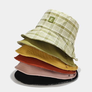2019 клетчатая двухсторонняя шляпа-ведро, Женская Рыбацкая шляпа, уличная дорожная шляпа, шляпа от солнца, шляпы для мужчин и женщин, Панама