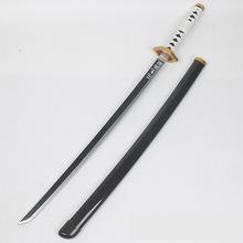 1 1 Original Edition Wooden Knife Sword Weapon Demon Slayer Devil #8217 s Blade Cosplay Samurai Sword Ninja Katana Prop Toys For Teens cheap DOYOQI 6 years old Unisex PG12138 100cm Sword Weapon Category