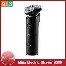 شاومي Mijia ماكينة حلاقة كهربائية S500 ثلاثية الأبعاد القاطع رئيس 360 درجة العائمة نوع-C قابلة للشحن الجاف الرطب الحلاقة الجسم مقاوم للماء اللحية ا...