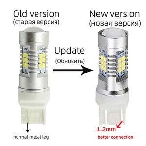Image 2 - Vanssi T20 7443 7444 W21/5W Led Lampen Voor Lada Vesta Granta Kalina Accessoires Front Dimensie Licht Lamp wit Amber Geel Rood