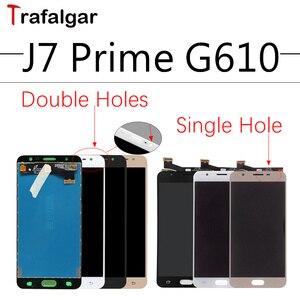 Image 1 - Pour SAMSUNG GALAXY J7 Prime écran LCD G610M G610F écran tactile numériseur assemblée pour SAMSUNG J7 Prime écran LCD remplacement