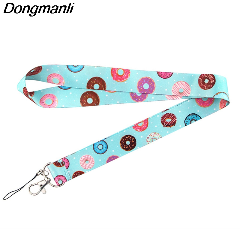 P4252 Dongmanli Donut Lanyard Badge ID Lanyards/ Mobile Phone Rope/ Key Lanyard Neck Straps Accessories