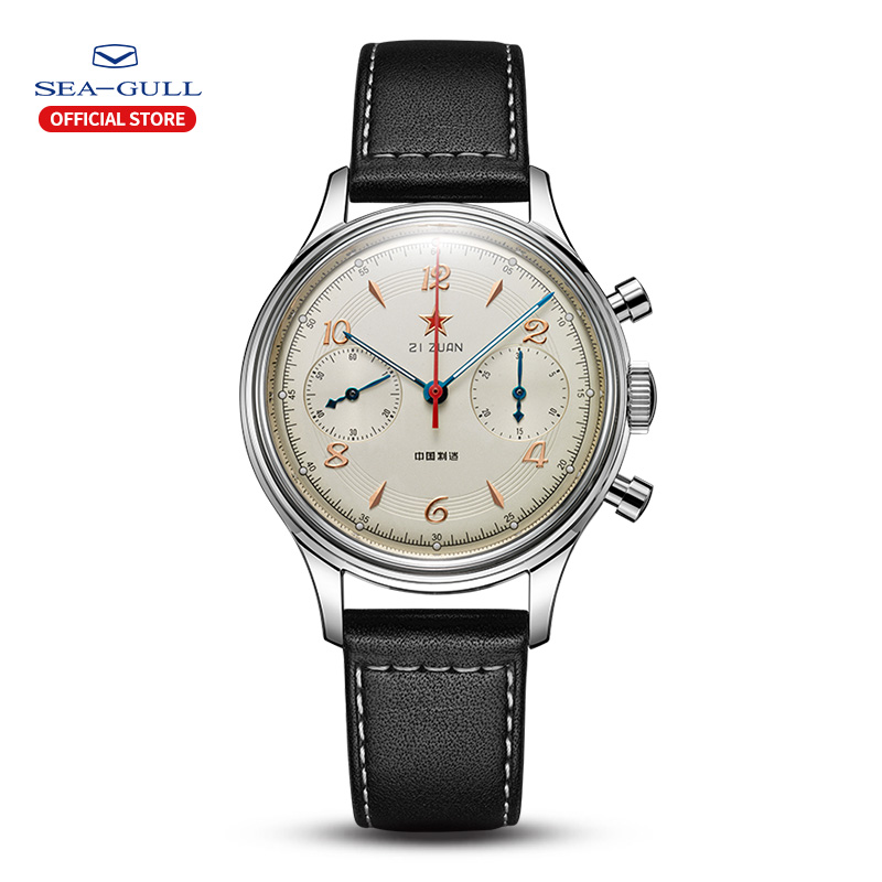 2020 New Seagull 65th Anniversary Men's Watch Replica Limited Edition Classic Chronograph Manual Mechanical Watch 819.17.1962