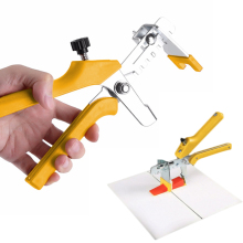 Yellow Tile Positioning Leveler Effort-Saving Push Pliers Cross Tile Locator Pliers OPP Bag