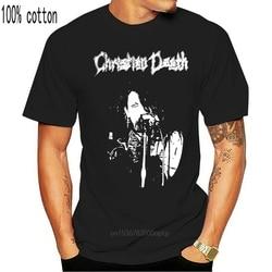 Vintage CHRISTIAN DEATH ONEITA Top Reprint USA sz Harajuku Hip Hop tee shirt