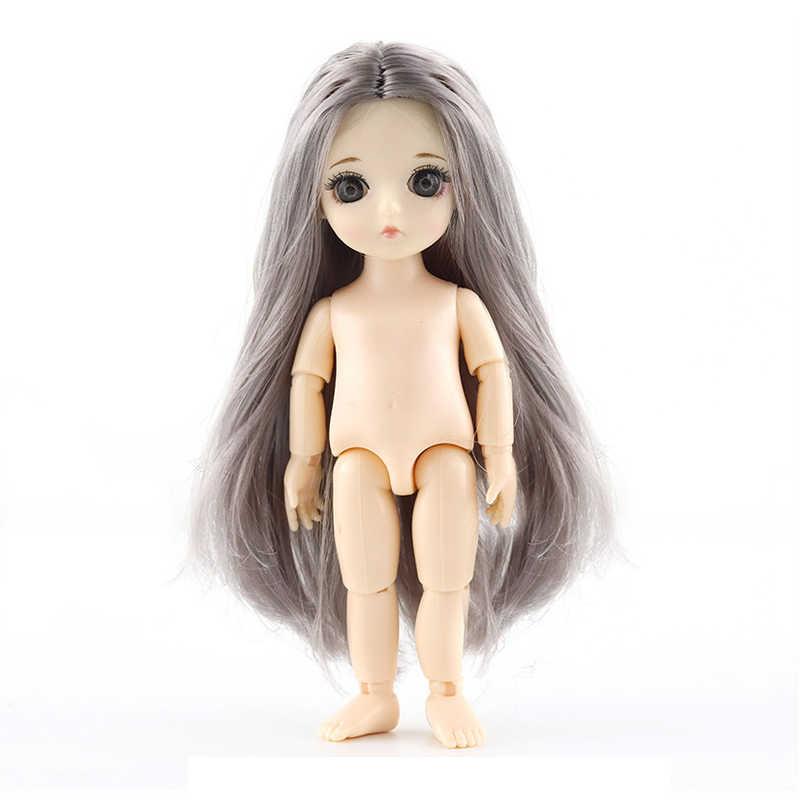 Baru 13 Bergerak Jointed Mainan Boneka Mini 16 Cm BJD Bayi Gadis Anak Laki-laki Boneka Telanjang Tubuh Telanjang Fashion Boneka Mainan untuk Anak Perempuan Hadiah