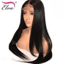 Elva Hair 250% Density 360 Lace Frontal Wig Pre Plucked With Baby Hair Straight Brazilian Lace Front Human Hair Wigs Remy Hair - DISCOUNT ITEM  45% OFF All Category
