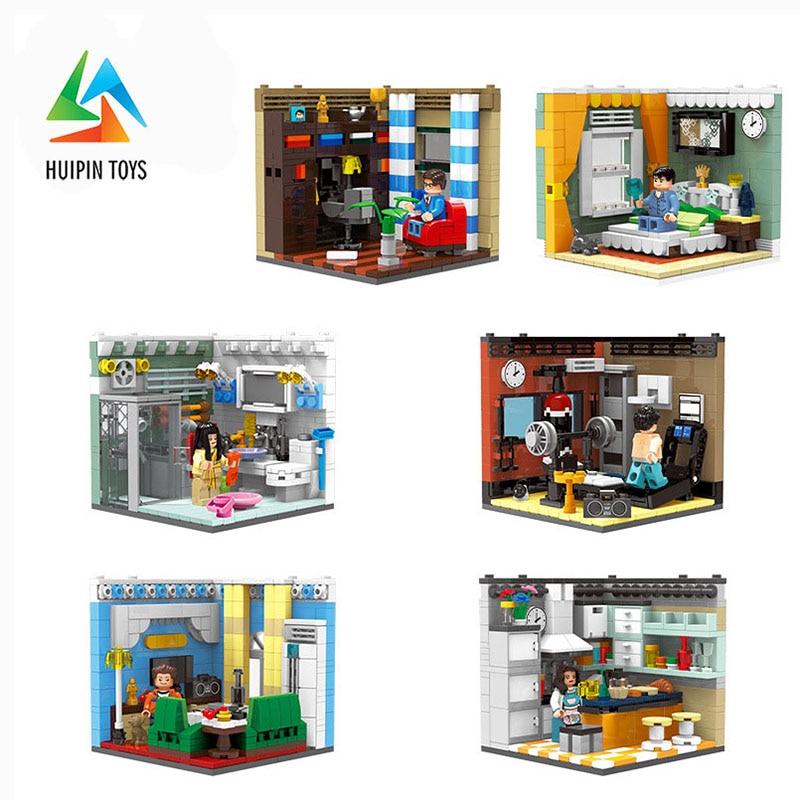 6Pcs/Set XINGBAO Building Blocks 01401 A-F Home Furnishing Series Creative City Compatible легоe Children Toys Bricks