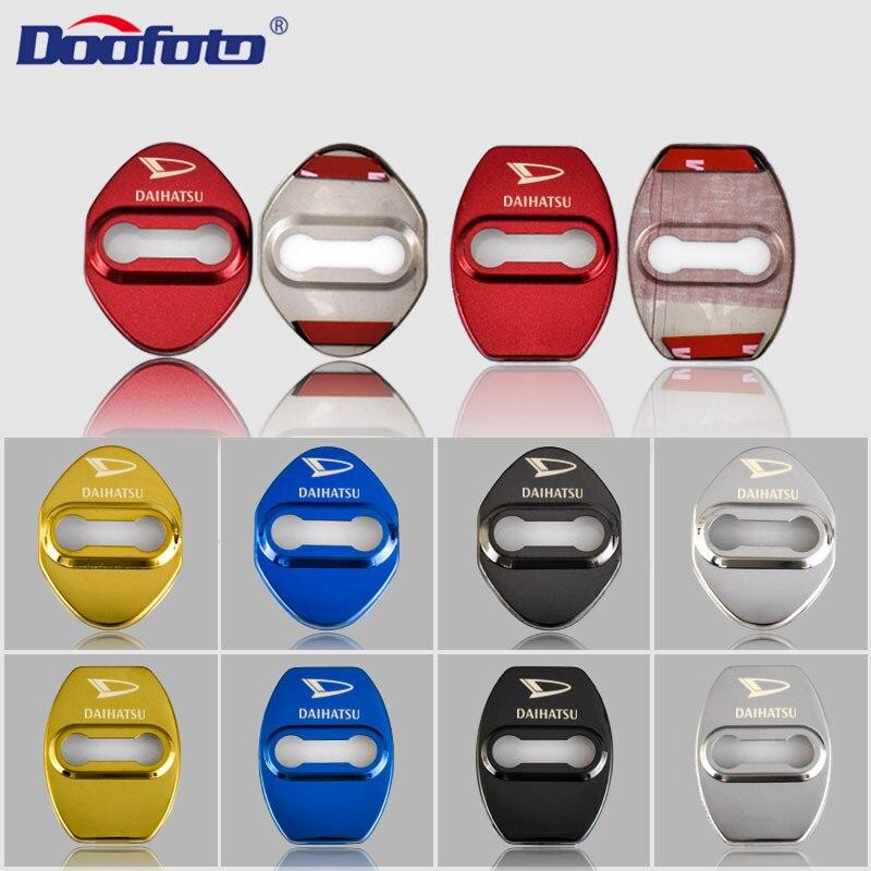 Doofoto 4x автомобильный стильный дверной замок для Daihatsu Terios Sirion Mira Materia Rocky YRV Feroza Charade автомобильные аксессуары