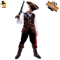 Boy Pirate Halloween Costume Cosplay Kid Deluxe Pirate Clothes for Carnival Party Costumes