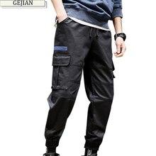 GEJIAN Casual Men Pants Brand Multi-pocket Cargo Pants Men Trend Hip Hop Streetwear Fashion Men Sweatpants pantalones hombre