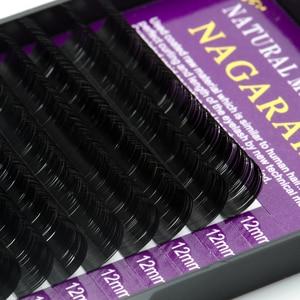 Image 4 - NAGARAKU 50 case/الكثير ملحقات رمش لتطعيم الرموش الطبيعية طويلة ذات جودة عالية من مادة المنك الاصطناعية