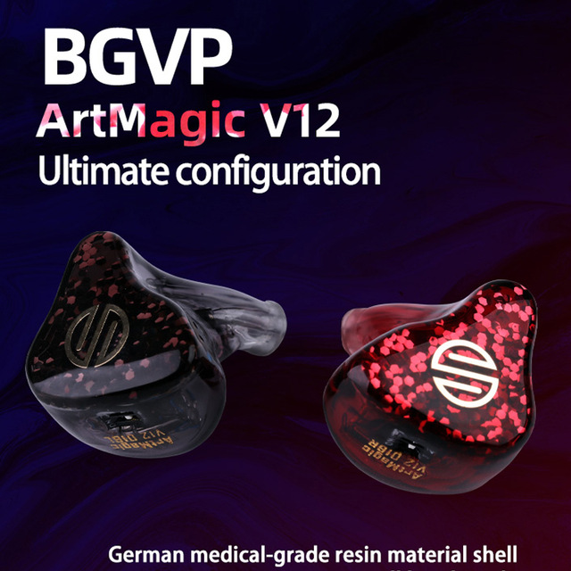 BGVP V12 12BA Music Headphones In Ear Monitors Professional Balanced Armature Noice Cancelling MMCX Wired Dj Headphones 1