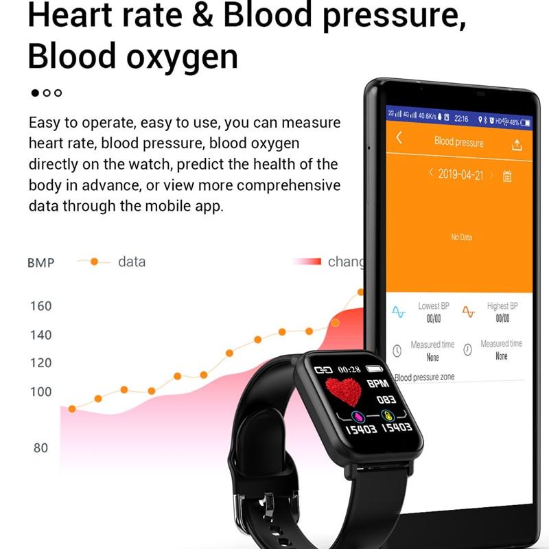 Image 4 - بلوتوث 4.0 ساعة ذكية الرجال مقاوم للماء IP68 Smartwatch النساء ضغط الدم النشاط ساعة تعقب الرياضة الذكية لنظام أندرويد Iosالساعات الذكيةالأجهزة الإلكترونية الاستهلاكية -