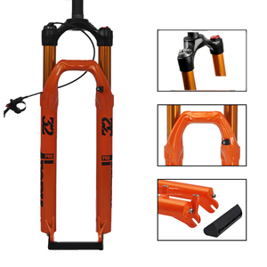 Велосипедная вилка горный велосипед пневматическая подвеска вилка велосипеда, маленького размера, круглой формы с диаметром 32 мм 120 мм 26 27,5 ...