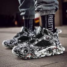 Mais tamanho 48 homens sapatos casuais dos homens das sapatilhas de alta qualidade rendas-up moda sapatos de caminhada respirável grosso macio único homem formadores