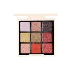 Suikone New Eye Shadow 9 Color Palette Waterproof Lasting Make Up Matte Shimmer Pigmented Eyeshadow #102