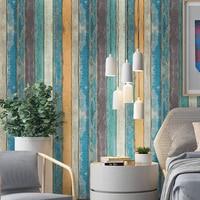 Vintage Modern Wood Self Adhesive Wallpapers For Living Room Furniture Bedroom Wals Waterproof Vinyl Roll Wall Contact paper