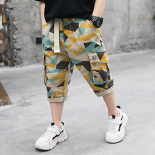 Camouflage Shorts Trousers Teenager Kids Boy Summer Children Cotton Casual for 110-170