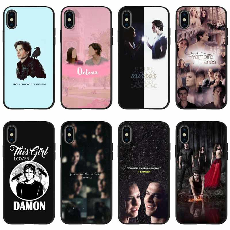 The Vampire Diaries Silicone Phone Case For iPhone 11 XR XS Max 7 ...