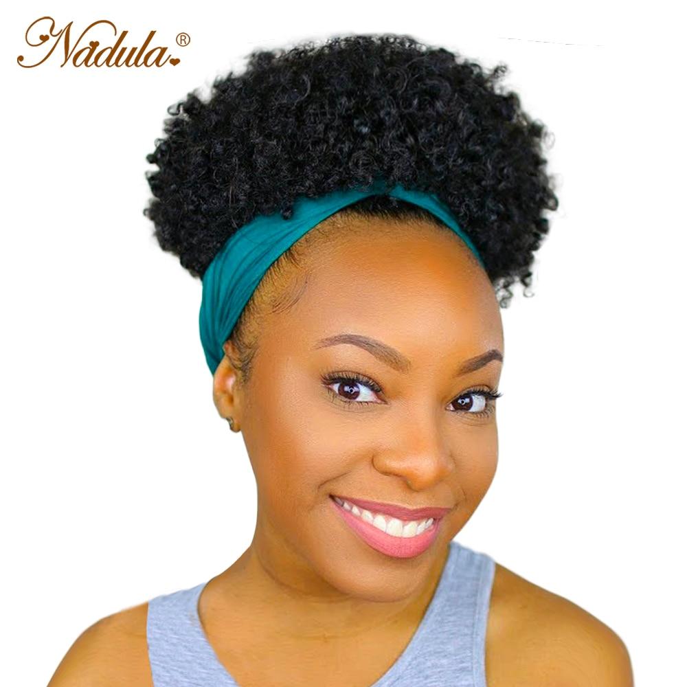 Nadula Hair Fluffy Headband Wig  Short Kinky Curly Wig  Kinky Curly Hair Wrap Wig Linked Turban 1