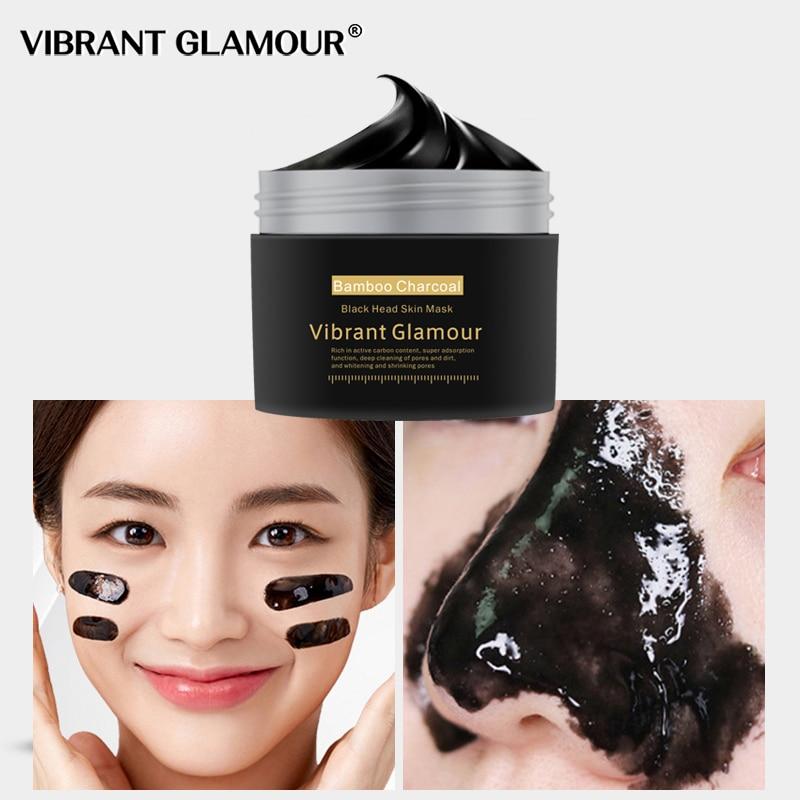 VIBRANT GLAMOUR New Bamboo Charcoal Blackhead Remover Nose Mask Peeling Mask   Deep Cleansing Shrink Pore Moisturizing Skin Care