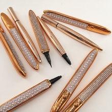 Cílios magia auto adesivo líquido delineador caneta cola clara preto marrom delineador longa duração à prova dwaterproof água maquiagem eyeliner