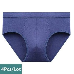 Image 3 - 4 sztuk/partia oddychająca modalne bielizna męska nowe majtki męskie body męskie wygodne stałe kalesony męskie majtki
