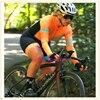 Rosa de manga longa camisa ciclismo skinsuit 2020 mulher ir pro mtb bicicleta roupas opa hombre macacão gel almofada skinsuit 9