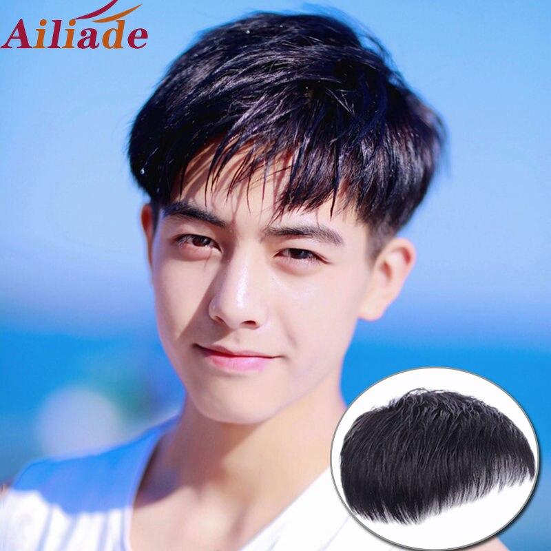 Ailiade peruca de cabelo humano real natural em linha reta cabelo peças