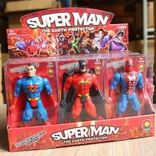 цена на 6pcs/Set Disney Marvel Super Heroes Avengers Iron Man Superman Batman Action Figures Model Gift Collection Of Children's Toys