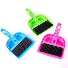 1Pcs Practical Mini Plastic Cleaning Sweeper Dustpan Broom Set Pets Home Cleaning Tools Small broom Pet Cleaning Products