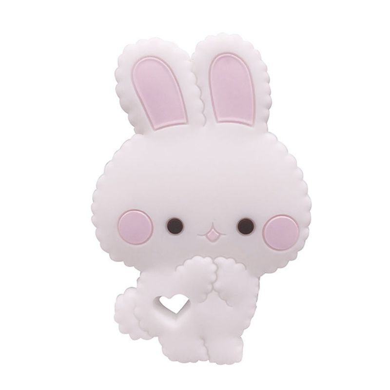 Cartoon Animal Rabbit Silicone Teether Baby Chew Teeth Molar Toy Appease Infants Supplies X5XE