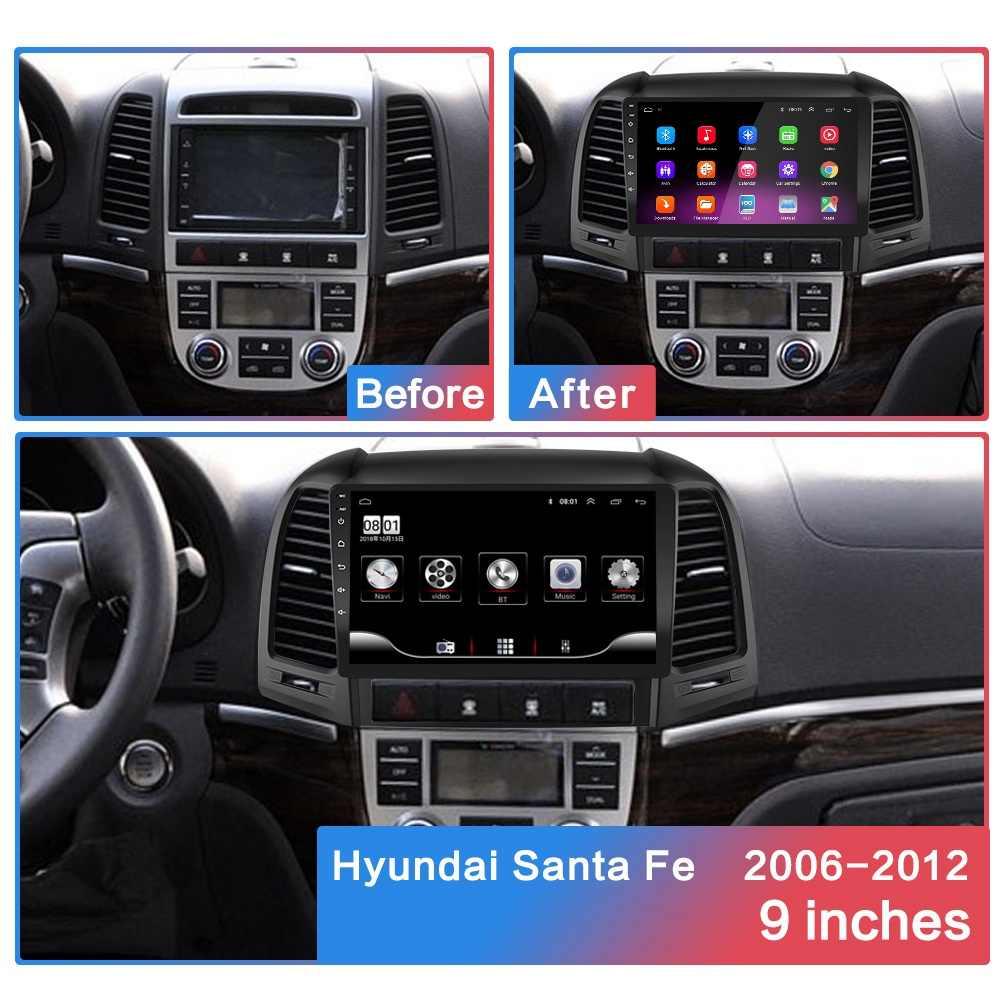 2g + 32g 2din Android araç radyo multimedya video oynatıcı Hyundai Santa Fe 2 2006-2012 araba radyo Navitei GPS navigasyon WiFi