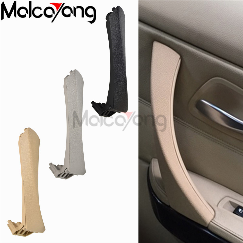 Left Right Side Beige Black Gray Car Inner Door Armrest Panel Handle Pull Trim Cover For BMW E90 E91 3 Series Auto Door Handle image