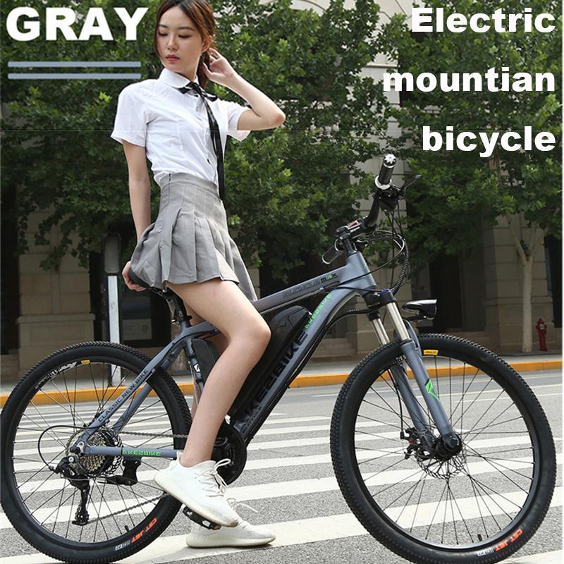 Elektrische Bikes Erwachsene 2 Rad Elektrische Fahrräder 26'' 36V 350W 30 KM/H EBIKE Weiß/Grau Abnehmbare Batterie elektrische E Bike Fahrrad