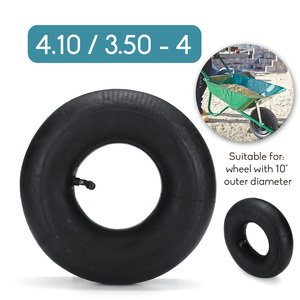 High Quality 1 pcs Pneumatic Wheel Trolley Wheel Inner Tube for Trolley Wheel with 10 inch Outer Diameter 4.10/3.50-4