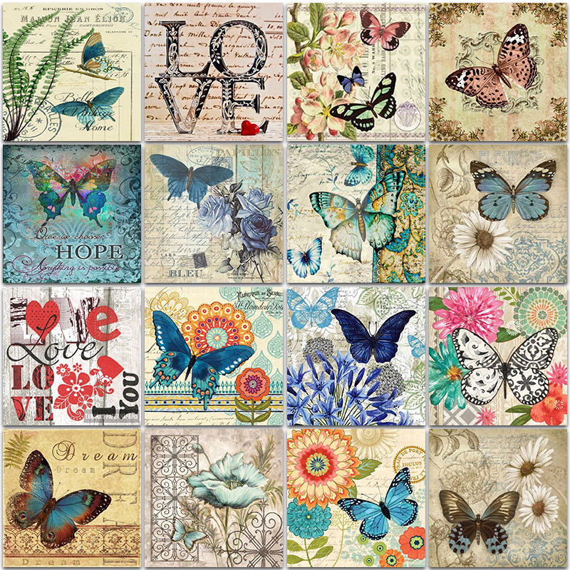 5D Diamond Painting Kit landscape flame animal Wolf flower Love butterfly Full Square&Round embroidery mosaic Cross stitch Paint