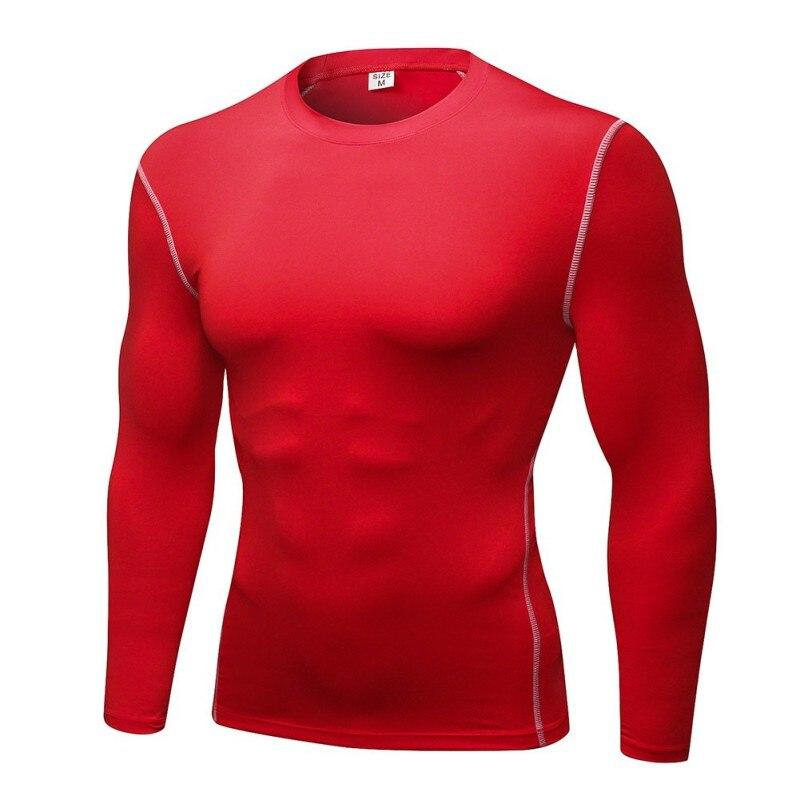 Мужские Спортивные Компрессионные Топы с длинным рукавом для баскетбола и бега, обтягивающие футболки, быстросохнущие топы для фитнеса с б... - 4