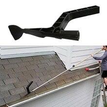 Светящиеся в крыше черные чистящие Ложки ABS аксессуары Совок желоба инструмент сад легко установить крыша листья удобный дом ферма открытый