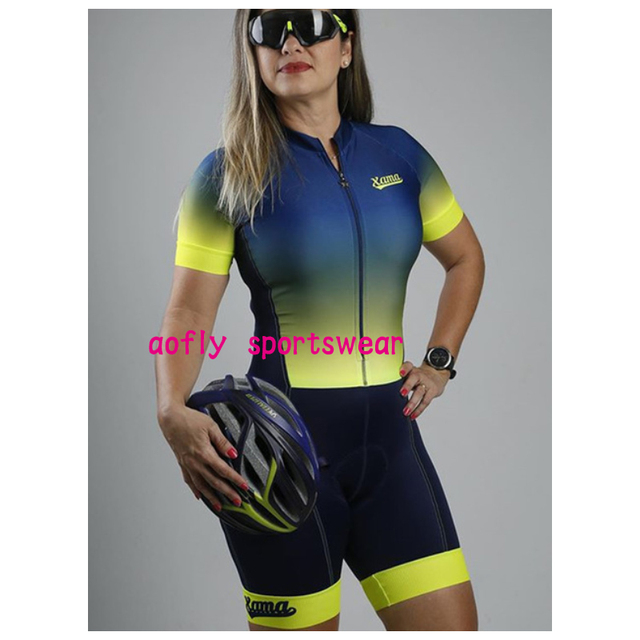 Gradiente cor profissão triathlon terno roupas ciclismo skinsuits rosa roupa de ciclismo macacão das mulheres triatlon kits 4