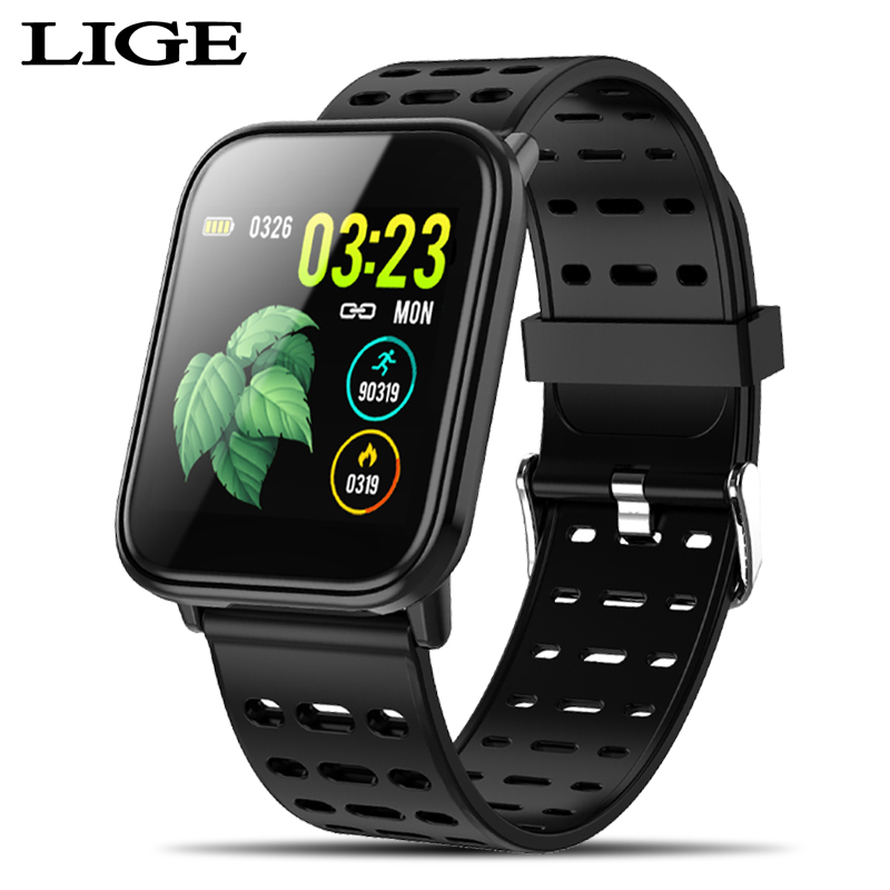 Newest <font><b>OLED</b></font> Color full screen touch smart watch men women For iPhone Heart rate monitor Blood pressure tracker sport smartwatch image