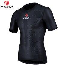 Велосипедная базовая одежда X-Tiger Pro, крутая сетчатая суперлегкая велосипедная рубашка с коротким рукавом, воздухопроницаемое нижнее белье, ...